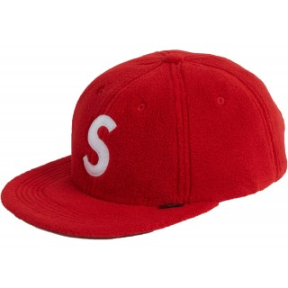 FW18 Supreme Polartec S Logo 6-Panel Red