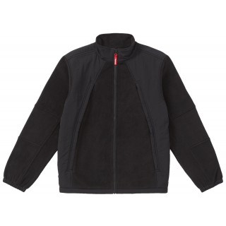 FW18 Supreme Polartec Zip Up Jacket Black