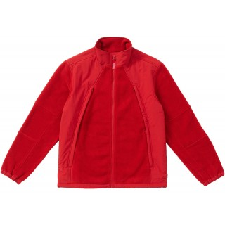 FW18 Supreme Polartec Zip Up Jacket Red