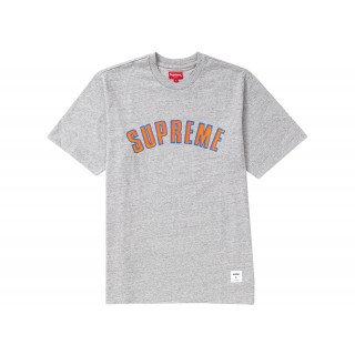 FW18 Supreme Printed Arc S/S Top Heather Grey