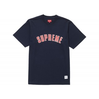 FW18 Supreme Printed Arc S/S Top Navy