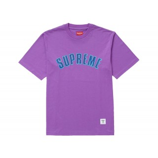 FW18 Supreme Printed Arc S/S Top Purple