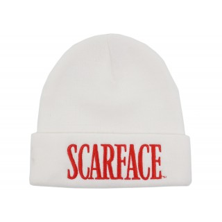 FW18 Supreme Scarface Beanie White