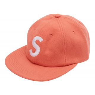 FW18 Supreme S Logo Hat Peach
