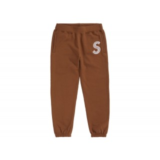 FW18 Supreme S Logo Sweatpant Brown