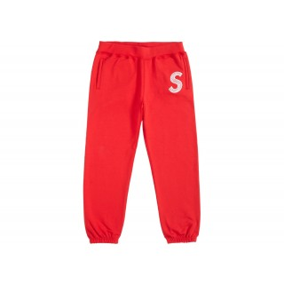 FW18 Supreme S Logo Sweatpant Red