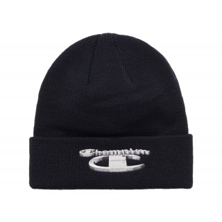 FW18 Supreme Champion 3D Metallic Beanie Black