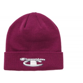 FW18 Supreme Champion 3D Metallic Beanie Bright Purple