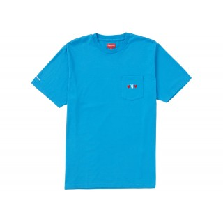 FW18 Supreme Playboy Pocket Tee Bright Royal