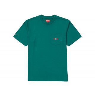 FW18 Supreme Playboy Pocket Tee Green