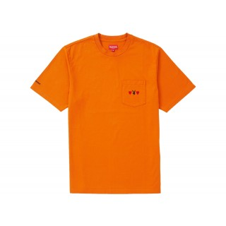 FW18 Supreme Playboy Pocket Tee Orange