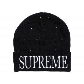FW18 Supreme Studded Beanie Black