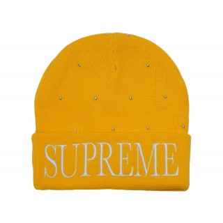 FW18 Supreme Studded Beanie Yellow