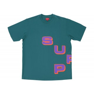 FW18 Supreme Stagger Tee Teal