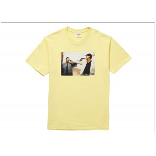 FW18 Supreme The Killer Trust Tee Pale Yellow