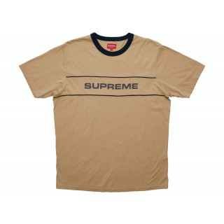 FW18 Supreme Team Ringer Tee Tan