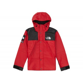 FW18 Supreme The North Face Leather Mountain Parka Red