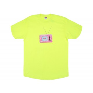 FW18 Supreme TV Tee Bright Yellow