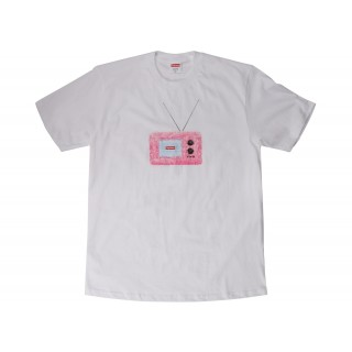 FW18 Supreme TV Tee White