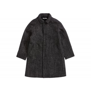 FW18 Supreme Wool Trench Coat Herringbone