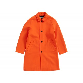 FW18 Supreme Wool Trench Coat Neon Orange