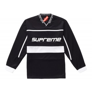 FW18 Supreme Warm Up Hockey Jersey Black