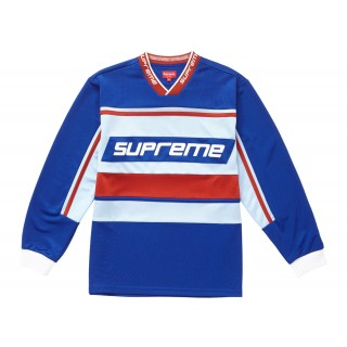 FW18 Supreme Warm Up Hockey Jersey Blue