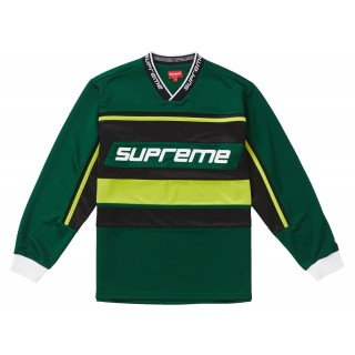 FW18 Supreme Warm Up Hockey Jersey Dark Green