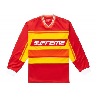 FW18 Supreme Warm Up Hockey Jersey Red